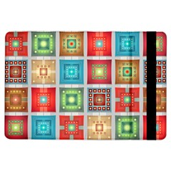 Tiles Pattern Background Colorful Ipad Air Flip