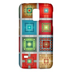 Tiles Pattern Background Colorful Galaxy S5 Mini
