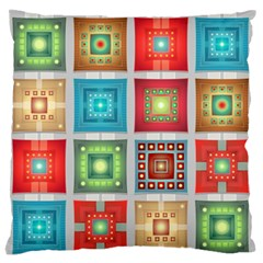 Tiles Pattern Background Colorful Standard Flano Cushion Case (two Sides)