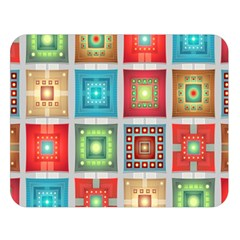 Tiles Pattern Background Colorful Double Sided Flano Blanket (large)