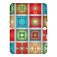 Tiles Pattern Background Colorful Samsung Galaxy Tab 4 (10 1 ) Hardshell Case