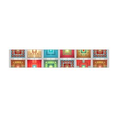 Tiles Pattern Background Colorful Flano Scarf (mini)