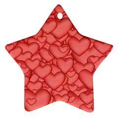 Background Hearts Love Ornament (star)