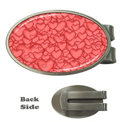 Background Hearts Love Money Clips (oval)