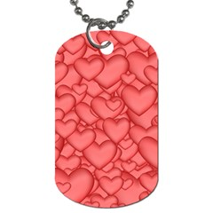 Background Hearts Love Dog Tag (two Sides)