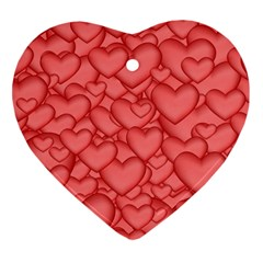 Background Hearts Love Heart Ornament (two Sides)