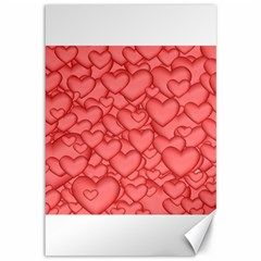 Background Hearts Love Canvas 12  X 18