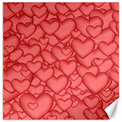 Background Hearts Love Canvas 16  X 16