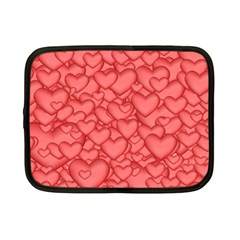 Background Hearts Love Netbook Case (small)
