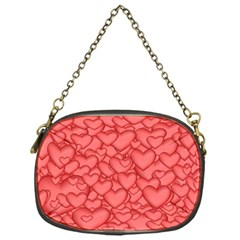Background Hearts Love Chain Purses (one Side)
