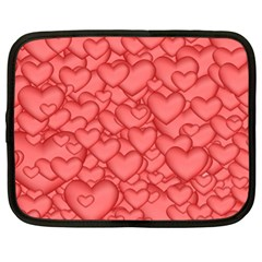 Background Hearts Love Netbook Case (xl)