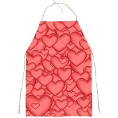 Background Hearts Love Full Print Aprons