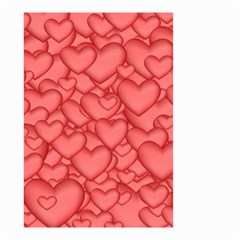 Background Hearts Love Small Garden Flag (two Sides)