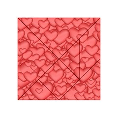 Background Hearts Love Acrylic Tangram Puzzle (4  X 4 )