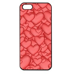 Background Hearts Love Apple Iphone 5 Seamless Case (black)