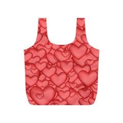 Background Hearts Love Full Print Recycle Bags (s)