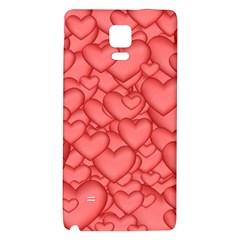 Background Hearts Love Galaxy Note 4 Back Case