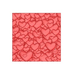 Background Hearts Love Satin Bandana Scarf