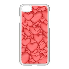 Background Hearts Love Apple Iphone 7 Seamless Case (white)