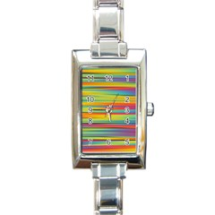 Colorful Background Rectangle Italian Charm Watch