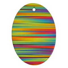 Colorful Background Oval Ornament (two Sides)