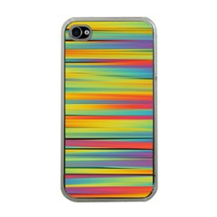 Colorful Background Apple Iphone 4 Case (clear)