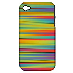 Colorful Background Apple Iphone 4/4s Hardshell Case (pc+silicone)