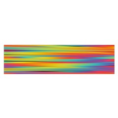 Colorful Background Satin Scarf (oblong)