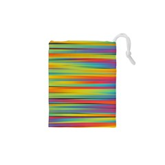 Colorful Background Drawstring Pouches (xs)
