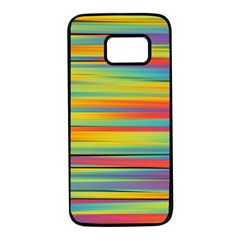 Colorful Background Samsung Galaxy S7 Black Seamless Case