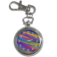 Colorful Background Key Chain Watches