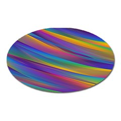 Colorful Background Oval Magnet