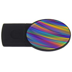 Colorful Background Usb Flash Drive Oval (4 Gb)