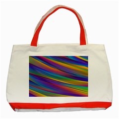 Colorful Background Classic Tote Bag (red)