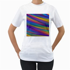 Colorful Background Women s T Shirt (white)
