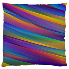 Colorful Background Large Flano Cushion Case (two Sides)