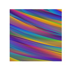 Colorful Background Small Satin Scarf (square)