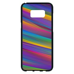 Colorful Background Samsung Galaxy S8 Plus Black Seamless Case