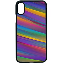 Colorful Background Apple Iphone X Seamless Case (black)