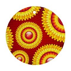 Floral Abstract Background Texture Ornament (round)
