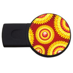 Floral Abstract Background Texture Usb Flash Drive Round (2 Gb)