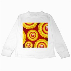 Floral Abstract Background Texture Kids Long Sleeve T Shirts