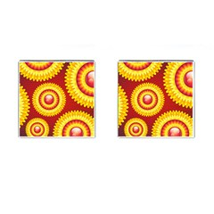 Floral Abstract Background Texture Cufflinks (square)