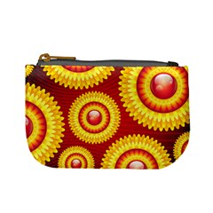 Floral Abstract Background Texture Mini Coin Purses