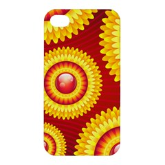 Floral Abstract Background Texture Apple Iphone 4/4s Hardshell Case