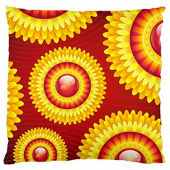 Floral Abstract Background Texture Large Cushion Case (two Sides)