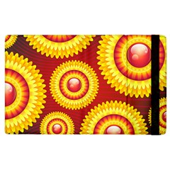 Floral Abstract Background Texture Apple Ipad 2 Flip Case
