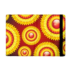 Floral Abstract Background Texture Apple Ipad Mini Flip Case