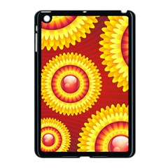 Floral Abstract Background Texture Apple Ipad Mini Case (black)