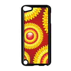 Floral Abstract Background Texture Apple Ipod Touch 5 Case (black)
